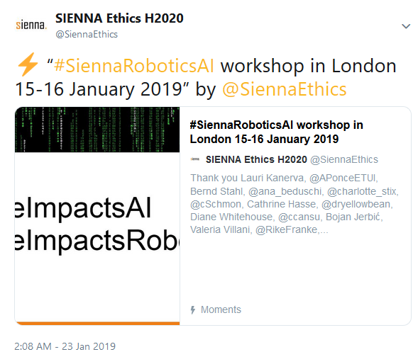 AI & Robotics foresight workshop Twitter recap