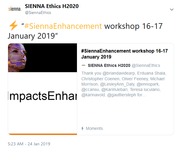 Human Enhancement foresight workshop twitter recap